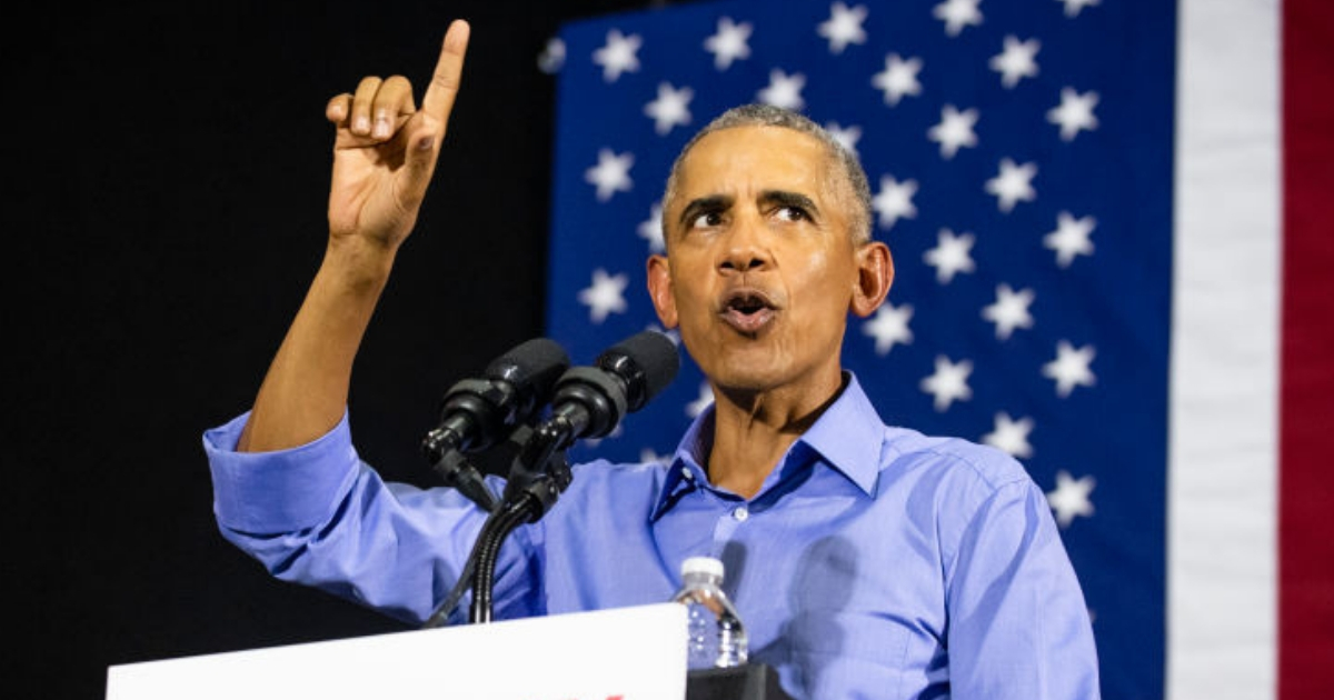 Former President Barack Obama speaks during a campaign rally for Ohio Gubernatorial candidate Richard Cordray