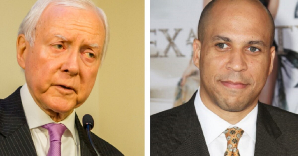 Orrin Hatch, left, and Cory Booker