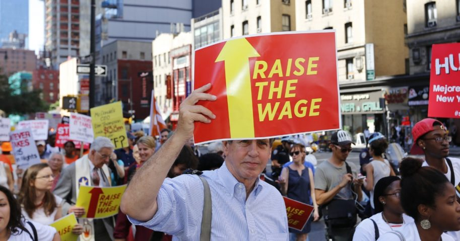 Raise the wage protest in New York