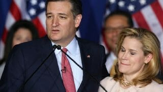 Texas Sen. Ted Cruz and his wife, Heidi, are pictured in May 2016 when Cruz announced he was suspending his run for the Republican presidential nomination.