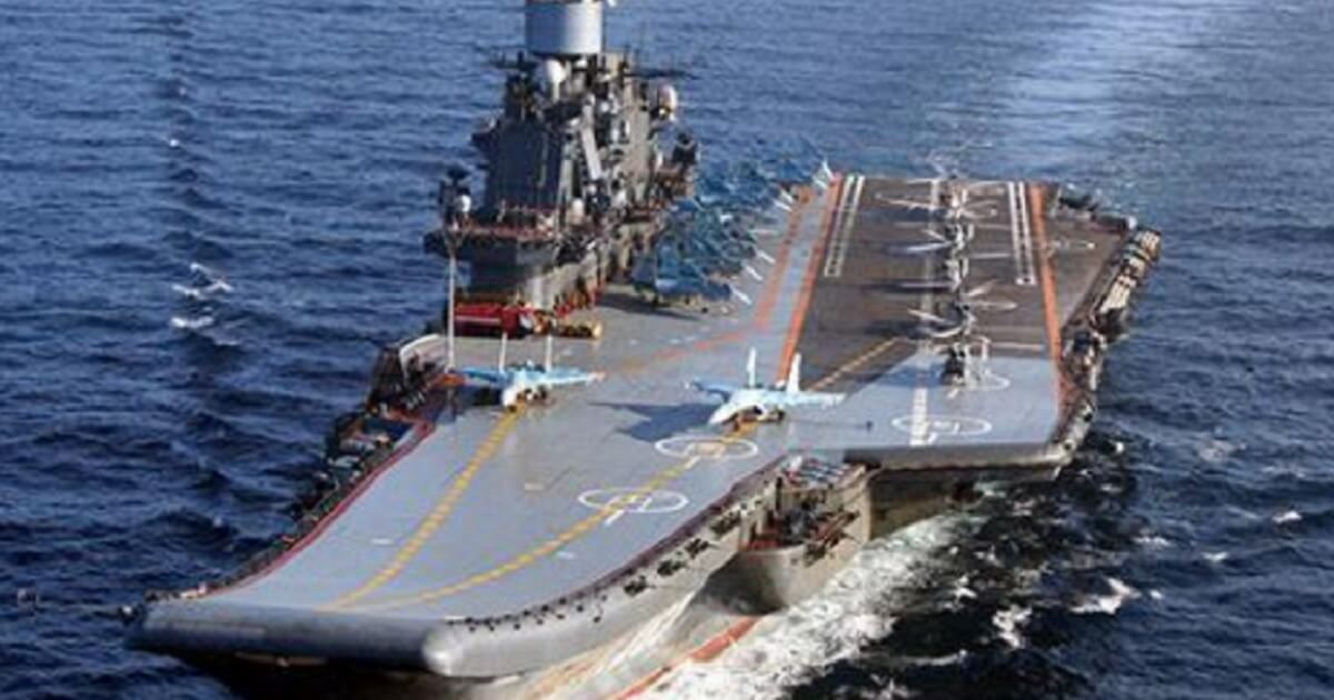 The Admiral Kuznetsov at sea, in better times.