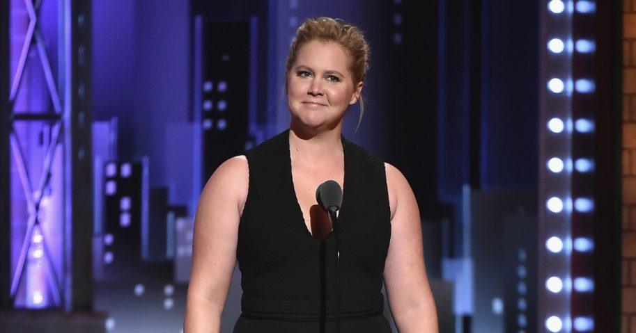 Amy Schumer speaks onstage during the 72nd Annual Tony Awards at Radio City Music Hall on June 10, 2018, in New York City.