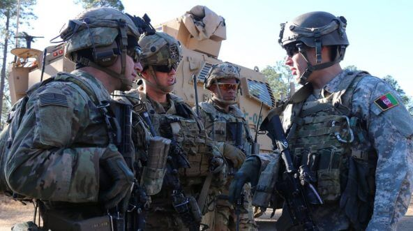 Soldiers from the Army's 1st Security Force Assistance Brigade train at Joint Readiness Training Center at Fort Polk, Louisiana.