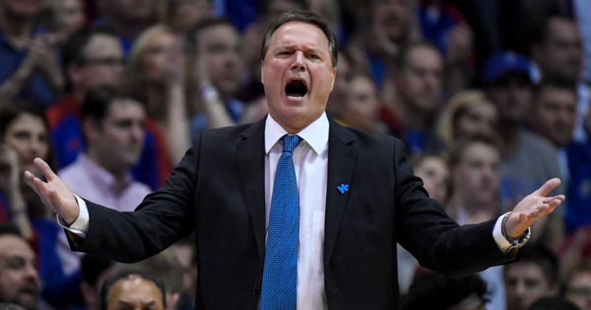 Kansas University basketball coach Bill Self