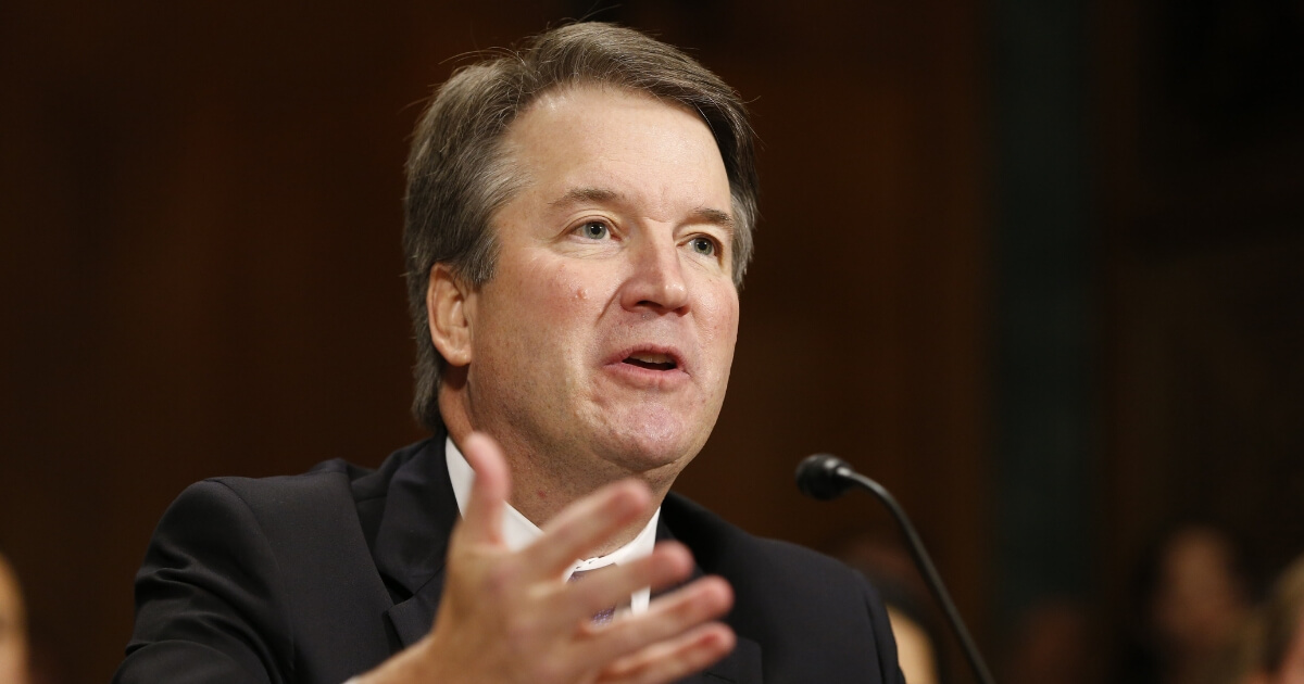 Judge Brett Kavanaugh speaks Thursday during a Senate Judiciary Committee hearing on his Supreme Court nomination.