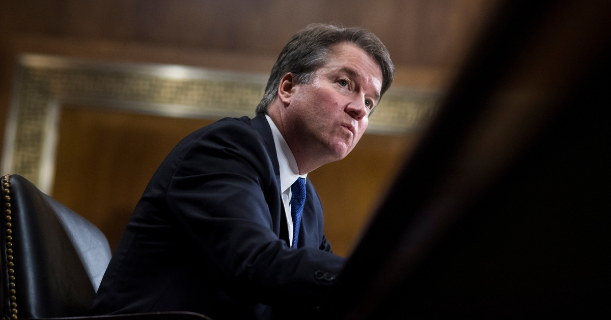 Judge Brett Kavanaugh testifies during the Senate Judiciary Committee hearing on his nomination to be an associate justice of the Supreme Court of the United States, focusing on allegations of sexual assault by Kavanaugh against Christine Blasey Ford in the early 1980s.