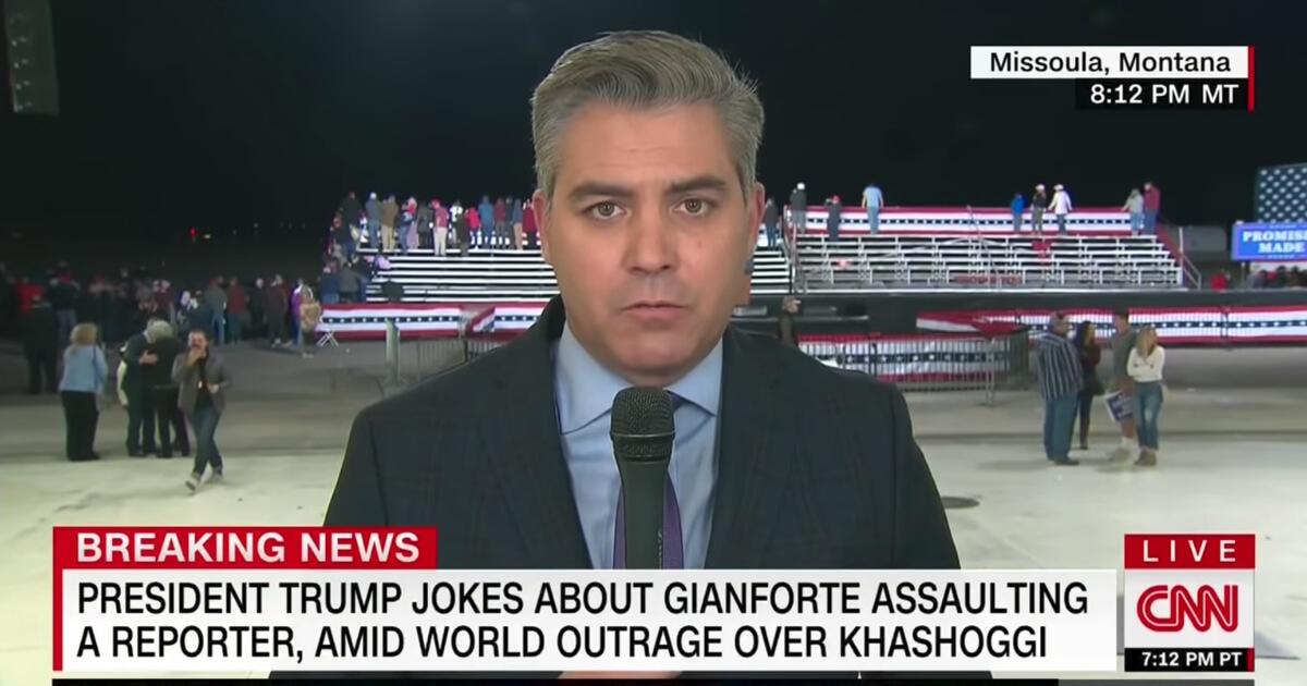 CNN chief White House correspondent Jim Acosta talks to Don Lemon about President Donald Trump's Montana rally on Oct. 18, 2018.