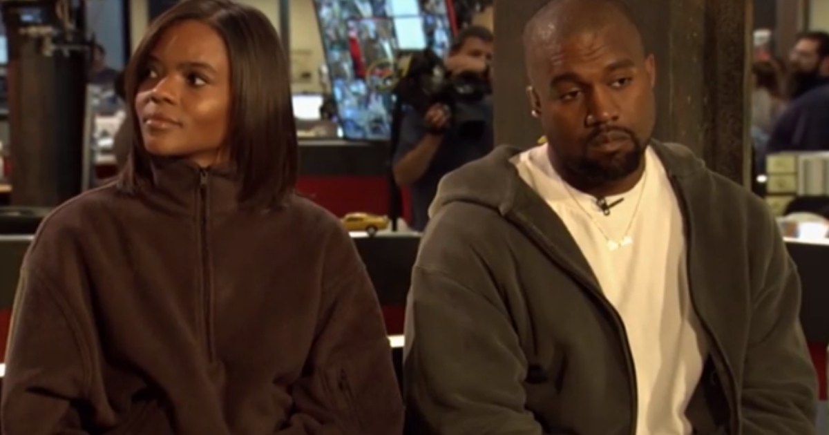 Candace Owens, left, and Kanye West during an appearance on 'TMZ.'