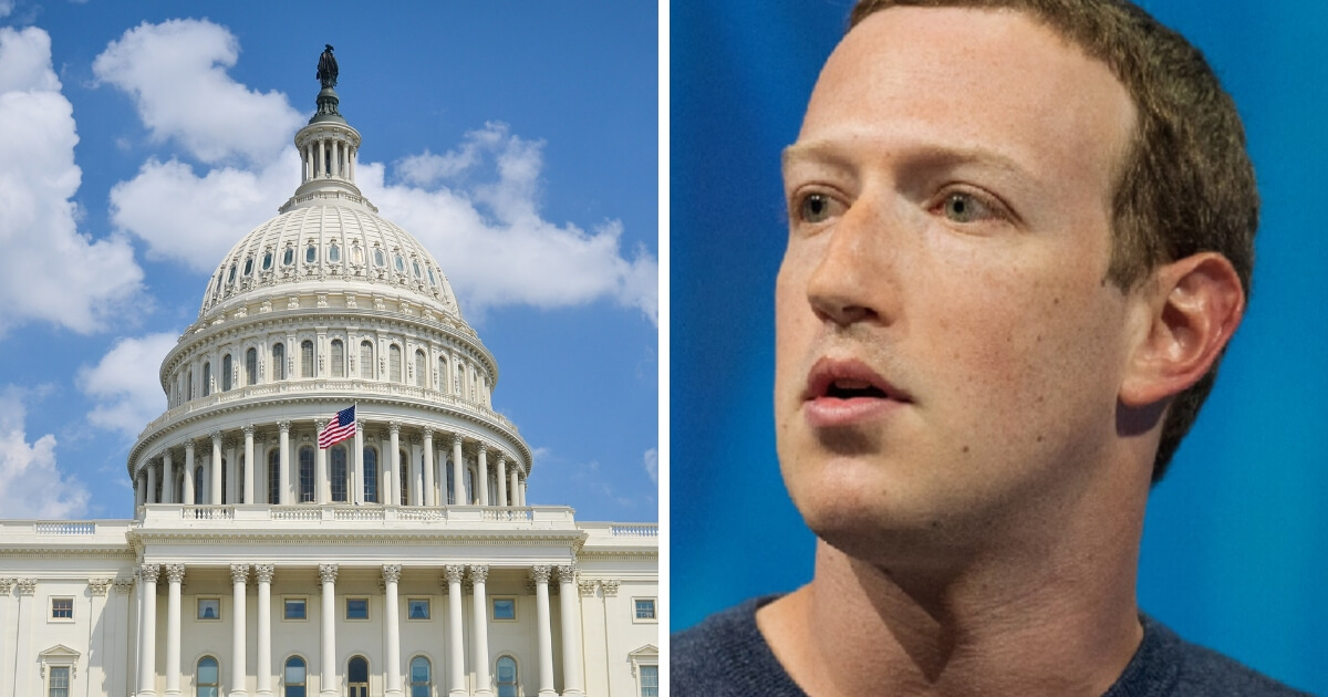 Facebook CEO Mark Zuckerberg and the U.S. Capitol