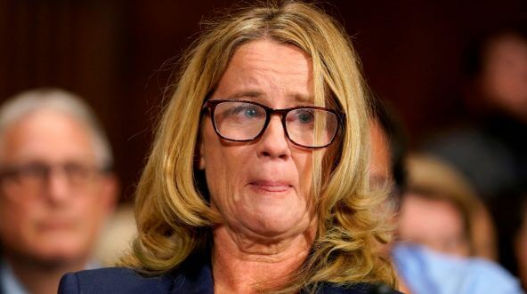 Christine Blasey Ford speaks Thursday during the Senate Judiciary Committee hearing on the Supreme Court nomination of Brett Kavanaugh.