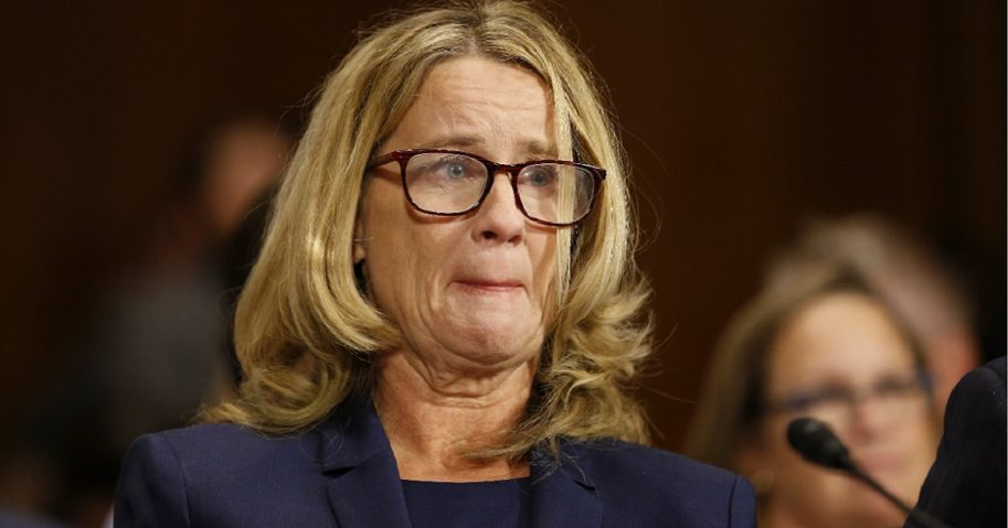 Christine Blasey Ford testifies Oct. 4 before the Senate Judiciary Committee.