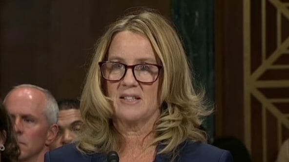 Christine Ford testifies before the Senate Judiciary Committee.
