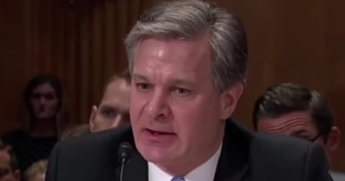 FBI Director Christopher Wray appeared before a Senate committee on Wednesday.