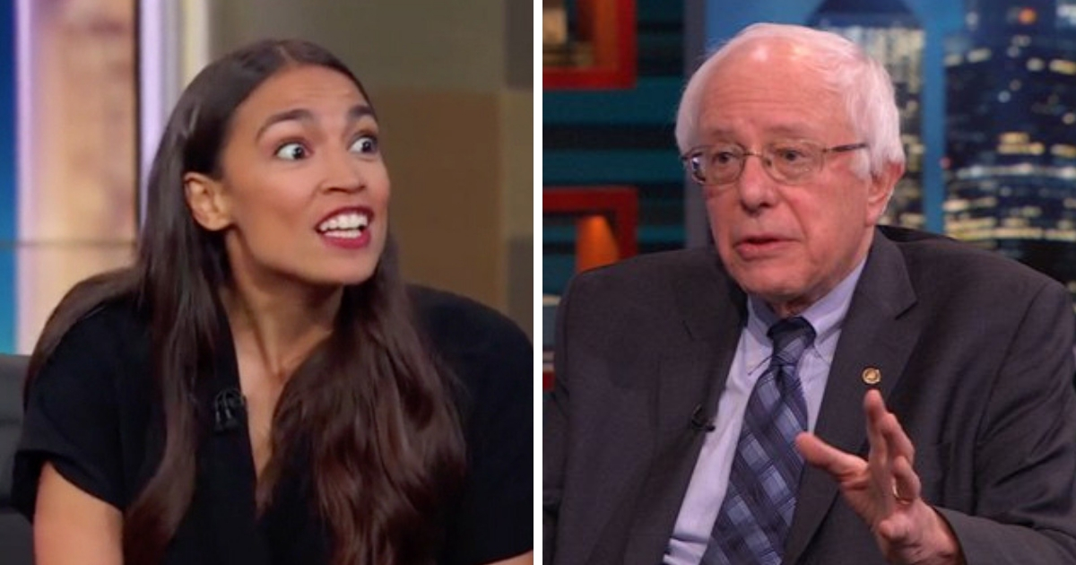 Socialist candidates Alexandria Ocasio-Cortez, left, and Sen. Bernie Sanders appeal to a significant number of millennials.