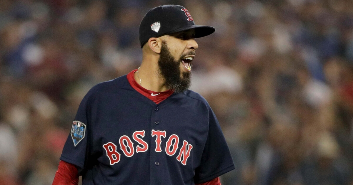 David Price was on the mound for the Boston Red Sox in Game 5 of the World Series against the Los Angeles Dodgers on Sunday.