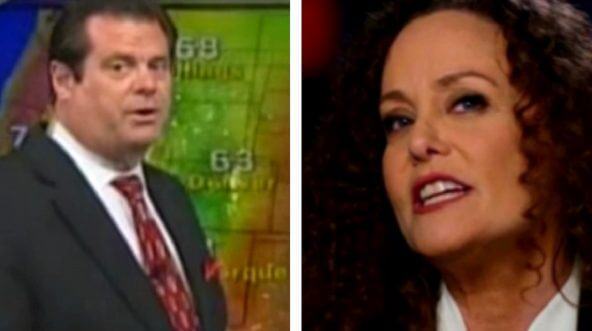 Dennis Ketterer, a television meteorologist in the Washington area, left, has come forward with an account of his relationship with Julie Swetnick, right, in the 1990s.
