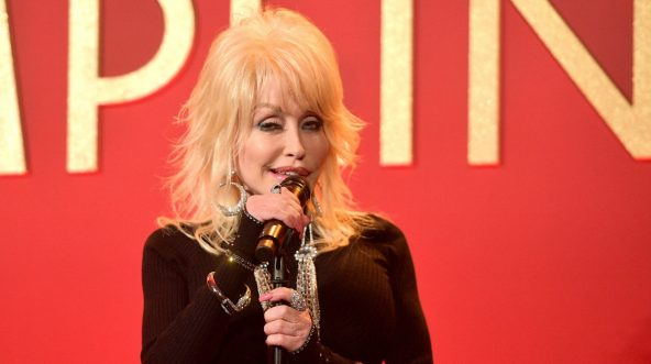 Dolly Parton performs onstage at a luncheon for the Netflix Film Dumplin' at Four Seasons Hotel Los Angeles at Beverly Hills on Oct. 22, 2018, in Los Angeles, California.
