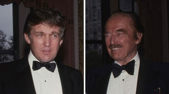 Donald Trump, left, and his father, Fred, at an event in 1987 at the Plaza Hotel in New York City.