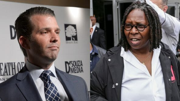 Donald Trump Jr. and Whoopi Goldberg