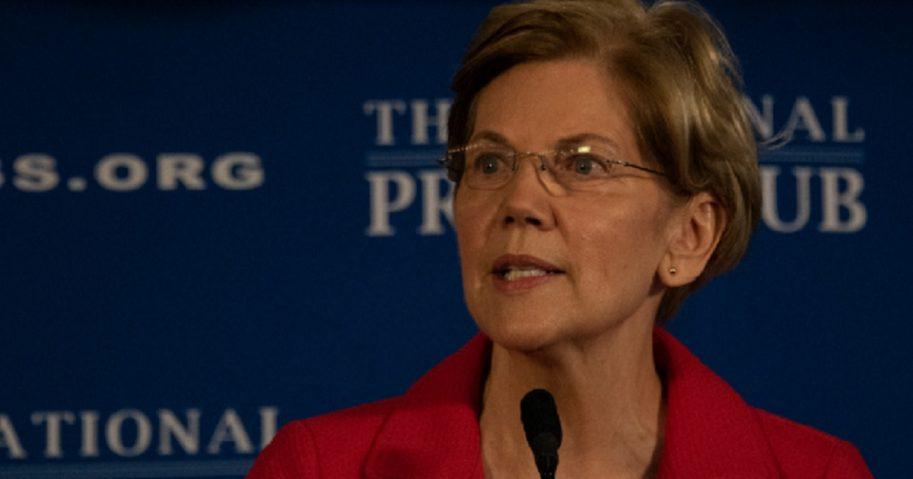 Massachusetts Sen. Elizabeth Warren speaks in August at the National Press Club.