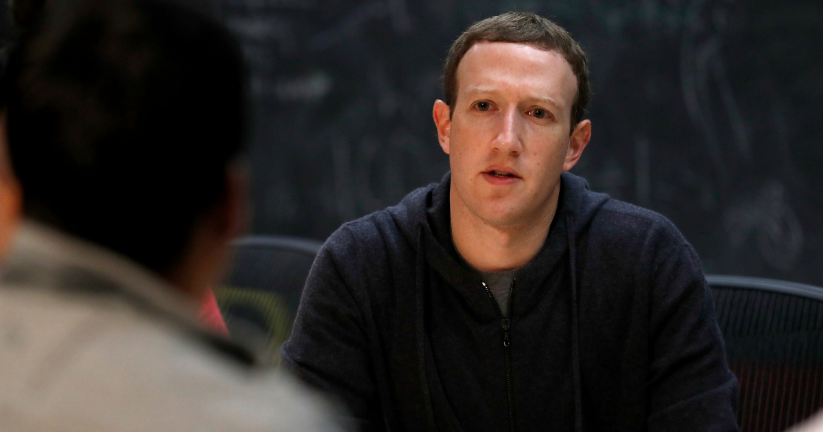 Facebook CEO Mark Zuckerberg meeting with a group of entrepreneurs and innovators during a round-table discussion at Cortex Innovation Community technology hub in St. Louis on Nov. 9, 2017.
