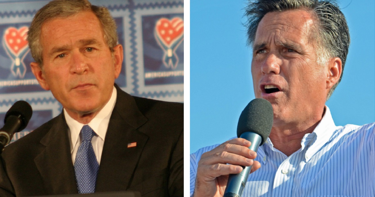 George W. Bush and Mitt Romney Rush to the Aid of Republican Candidate Locked in Tight Battle