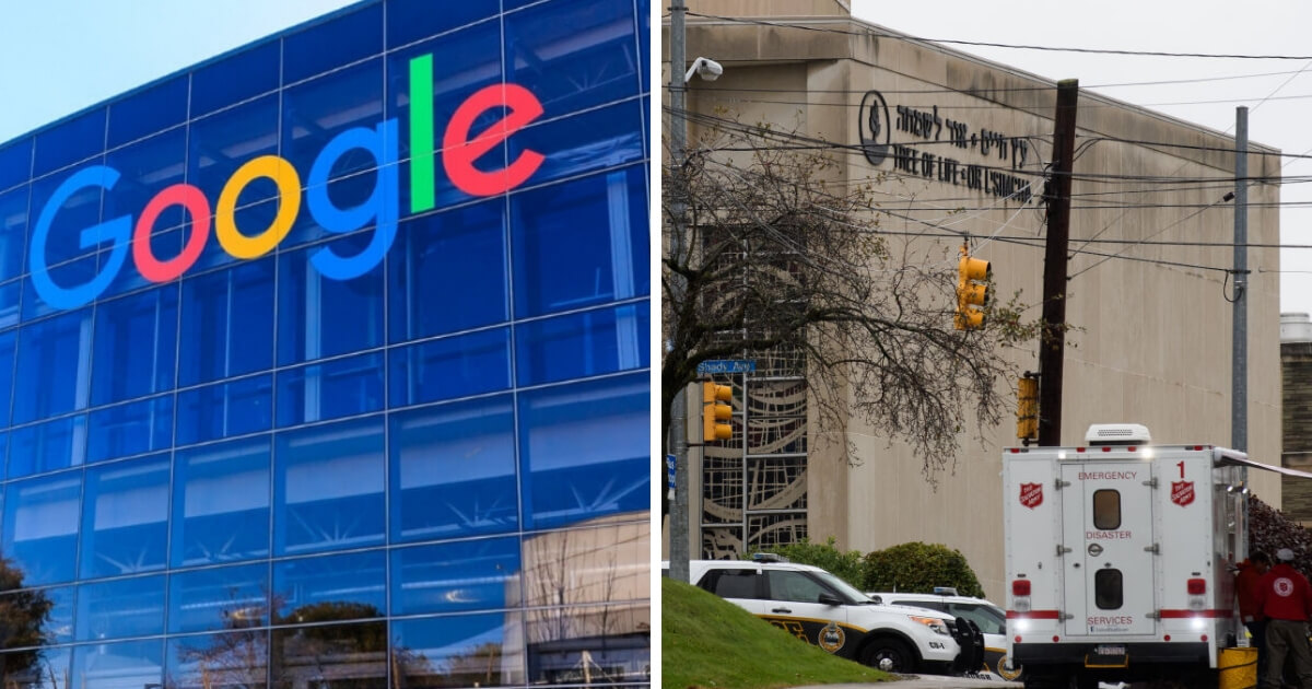 Google headquarters and the scene of the deadly shooting at a Pittsburgh Synagogue
