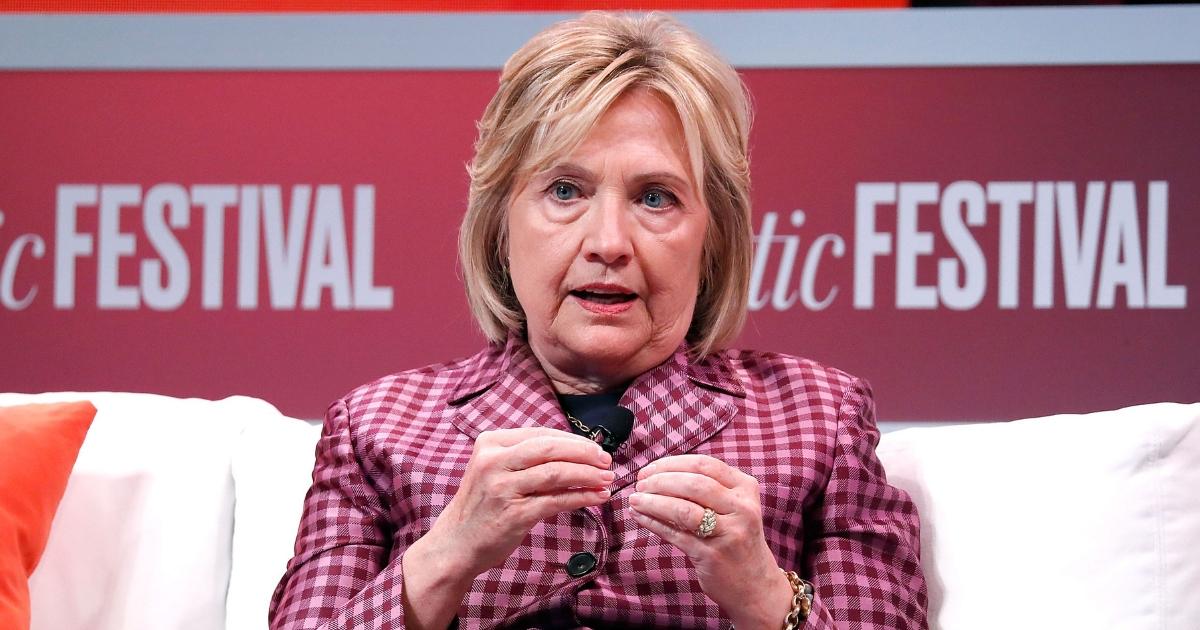 Former U.S. Secretary of State Hillary Clinton speaks at The Atlantic Festival on Oct. 2, 2018, in Washington, D.C.
