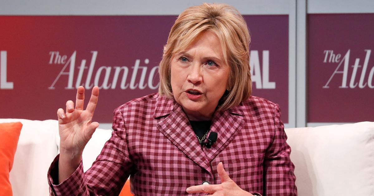 Former U.S. Secretary of State Hillary Clinton speaks at The Atlantic Festival