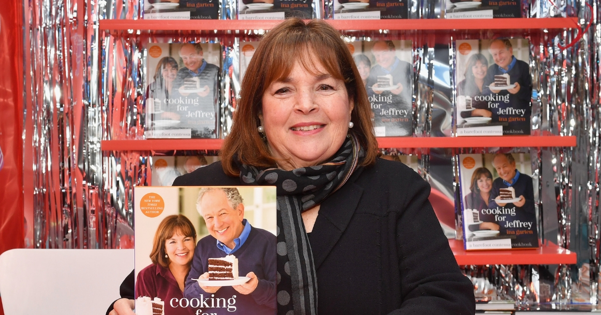 Ina Garten signs cookbooks during the Food Network's rooftop birthday party hosted by Alton Brown, Giada De Laurentiis, Bobby Flay and Ina Garten at Pier 92 on Oct. 13, 2018, in New York City.