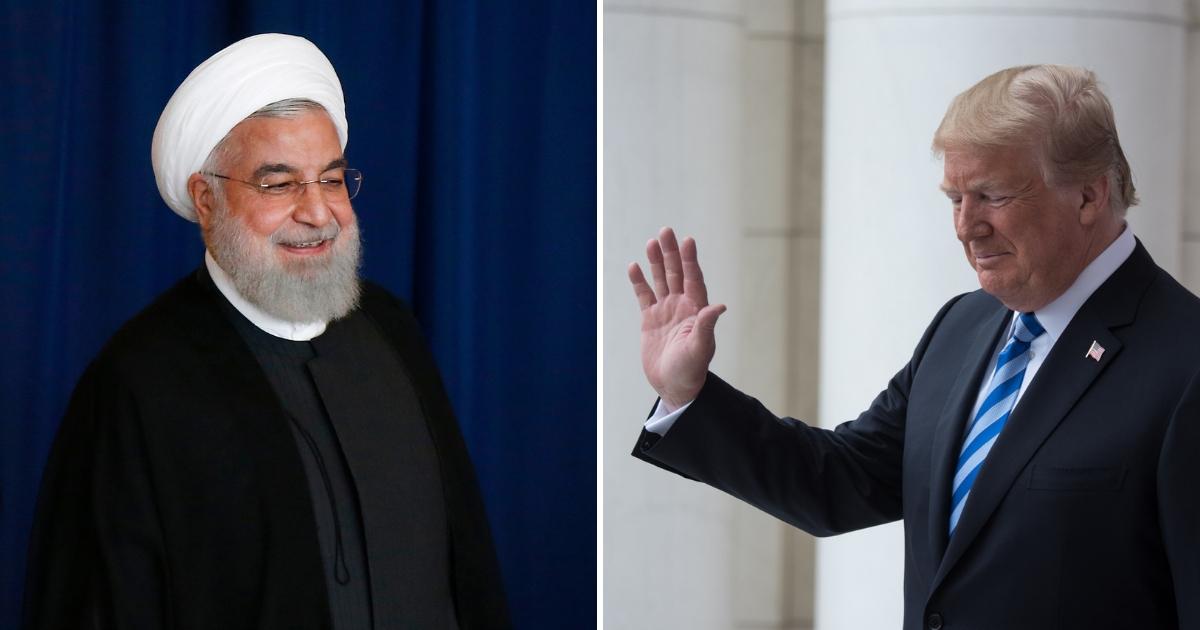Iranian President Hassan Rouhani and U.S. President Donald J. Trump