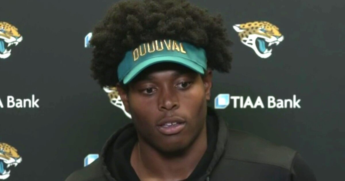 The Jacksonville Jaguars' Jalen Ramsey answers questions during a news conference Thursday.
