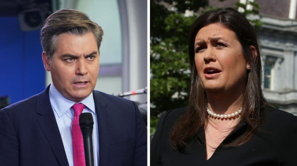 CNN chief White House correspondent Jim Acosta and White House Press Secretary Sarah Huckabee Sanders
