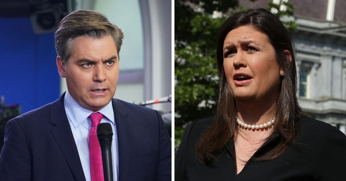 CNN chief White House correspondent Jim Acosta and White House Press Secretary Sarah Huckabee Sanders