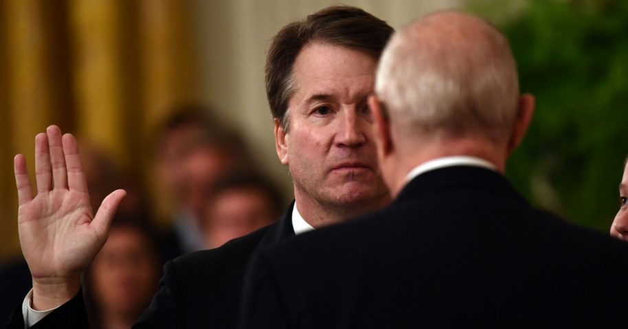 Kavanaugh Being Sworn in