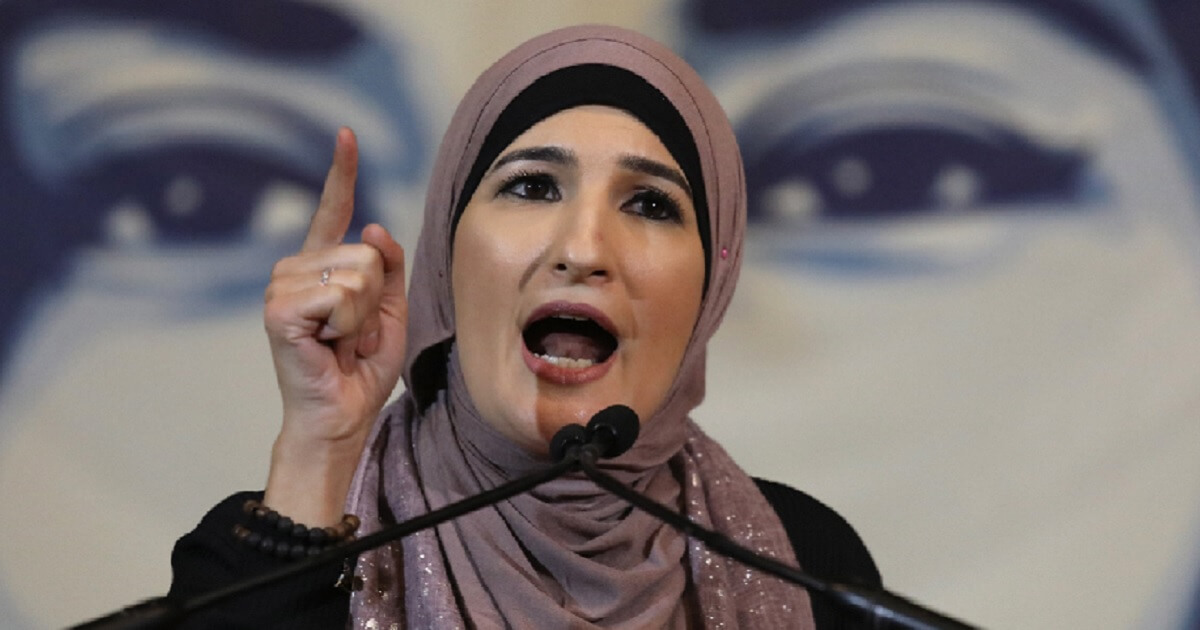 Linda Sarsour speaks at an event in Washington in February.