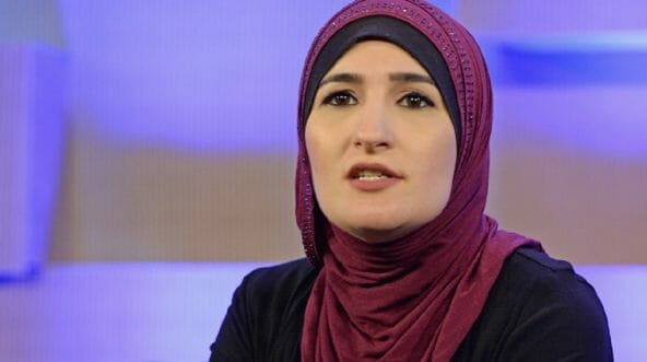 Women's March leader Linda Sarsour is pictured in a file photo from 2017.