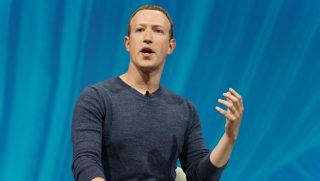 Facebook CEO Mark Zuckerberg is pictured at a technology conference in Paris in May.