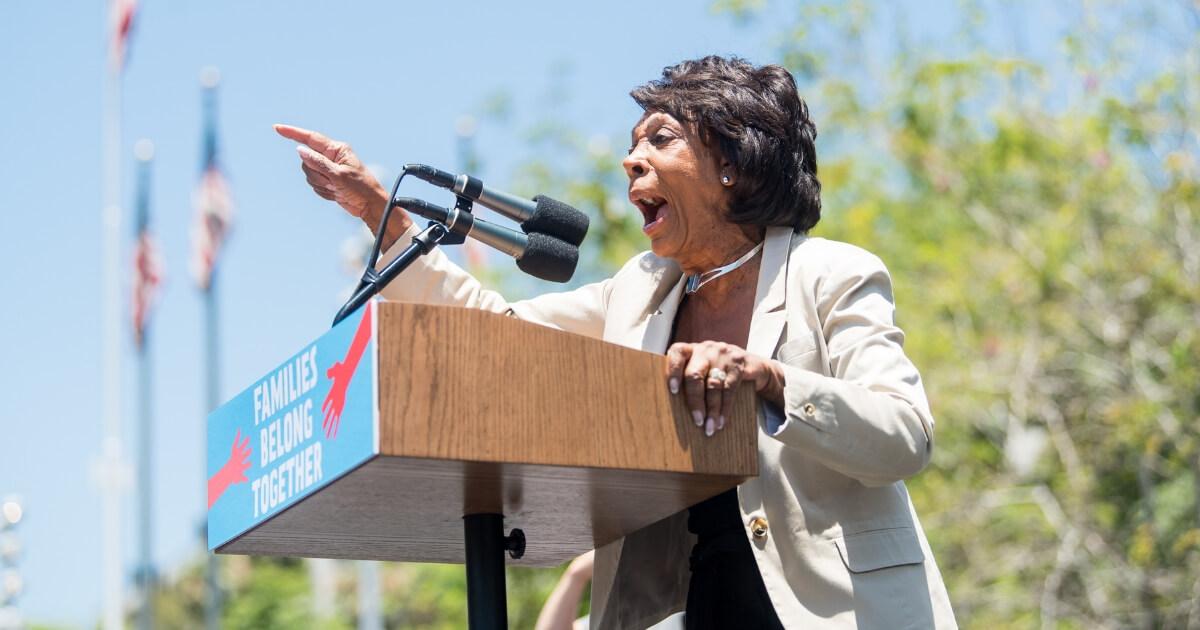 Maxine Waters speaks onstage