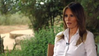 Melania Trump sits for an interview with ABC News that was recorded during her trip to Africa during the first week of October.