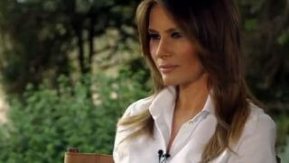 "First lady Melania Trump being interviewed by ""World News Tonight."""