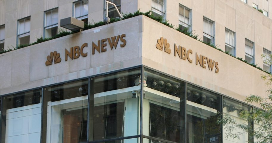 The NBC News studios at 30 Rockefeller Center in New York City.