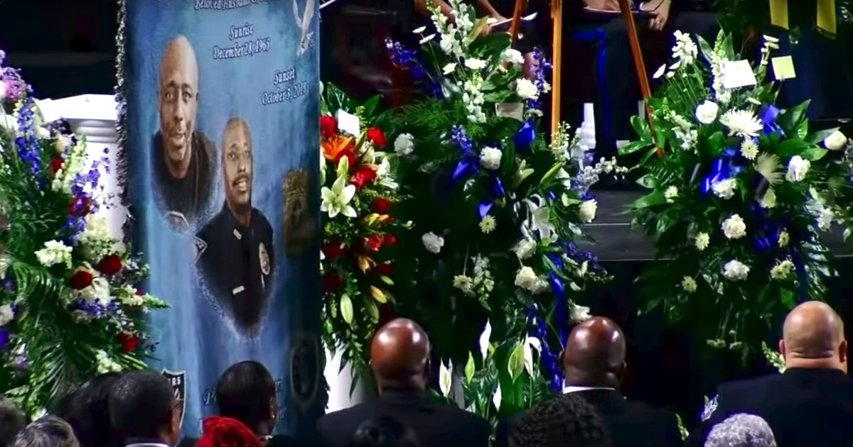 A funeral was held for fallen Florence, South Carolina, police Sgt. Terrence Carraway on Monday.