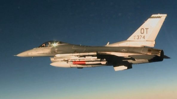 nuclear missile on fighter plane