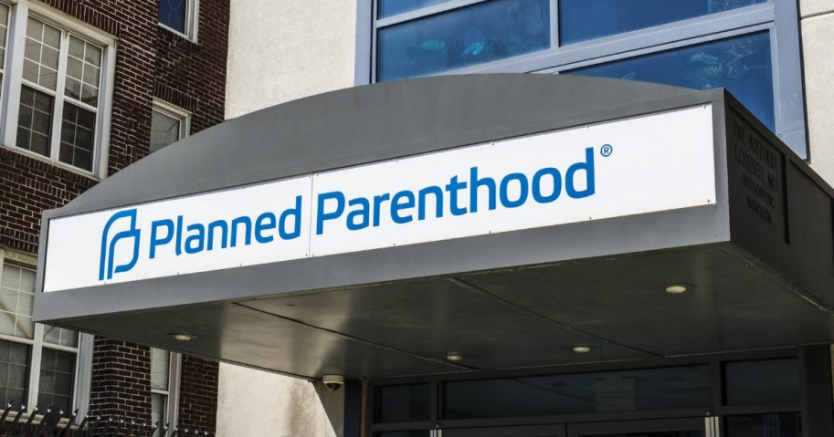 The entrance to a Planned Parenthood facility