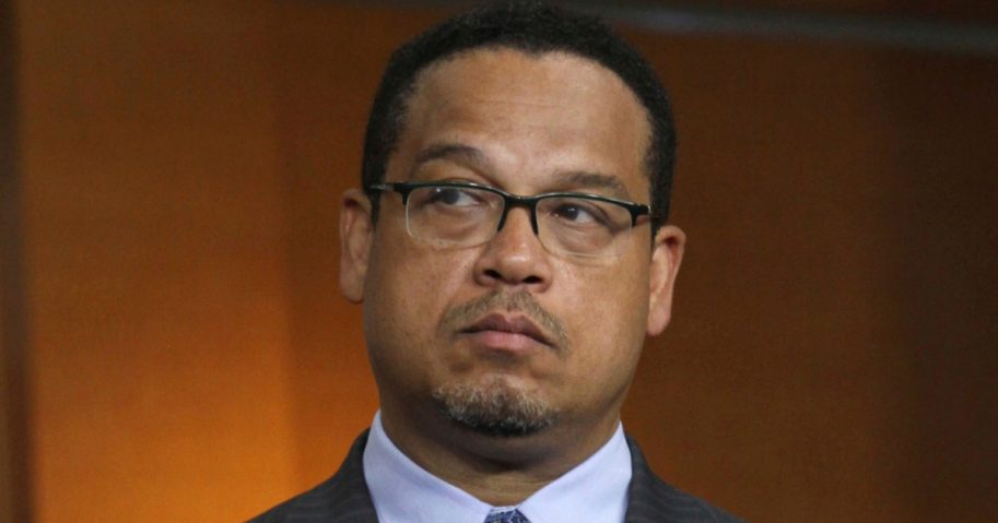 In this June 16, 2016 file photo, Rep. Keith Ellison, D-Minn. is seen on Capitol Hill in Washington.