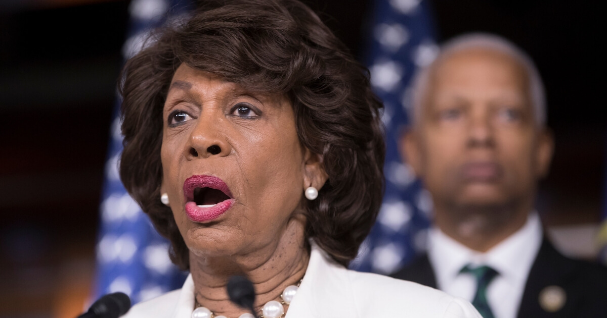 Rep. Maxine Waters, D-Calif., ranking member on the House Financial Services Committee, speaks during a news conference on Capitol Hill in Washington, Friday, July 14, 2017.