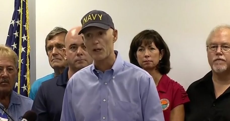Florida Gov. Rick Scott during a press conference.