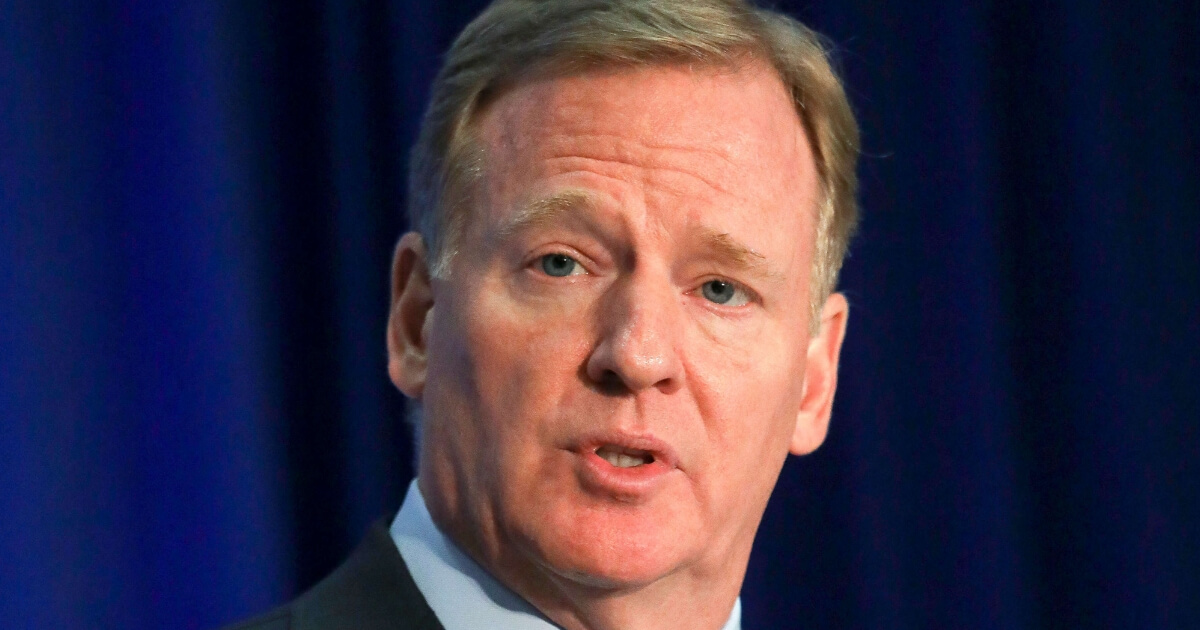 NFL Commissioner Roger Goodell speaks during a press conference after the league's owners meetings Wednesday in New York.