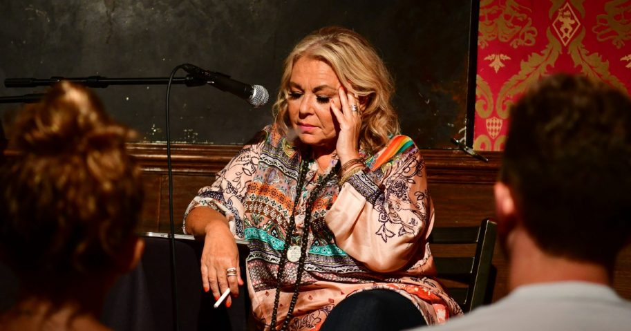 Roseanne Barr attends live podcast at Stand Up NY